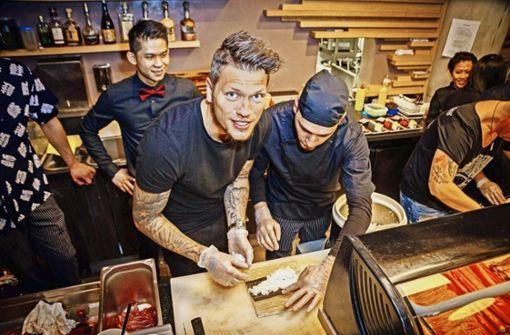 Beim Sushi-Rollen ist der VfB stark