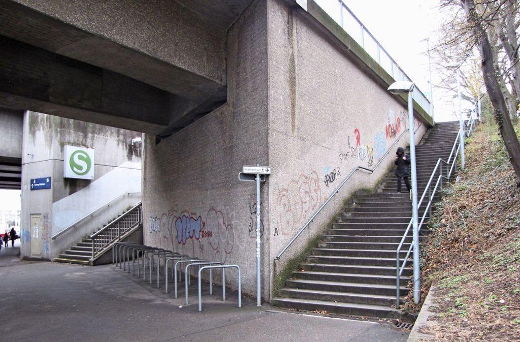 Der Zugang zum S-Bahnhalt Nürnberger Straße. Foto: Edgar Rehberger