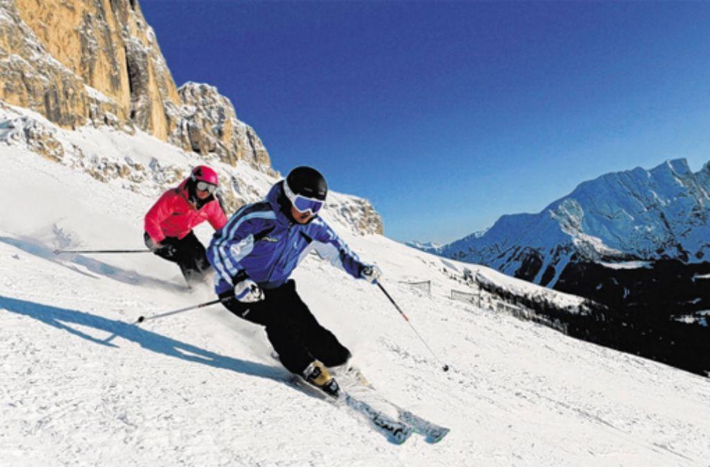 Das Skigebiet Carezza in den Dolomiten lockt schon an den kurzen Dezembertagen dank seiner Südhänge mit vielen Sonnenstunden. Foto: TVB ROSENGARTEN/LATEMAR