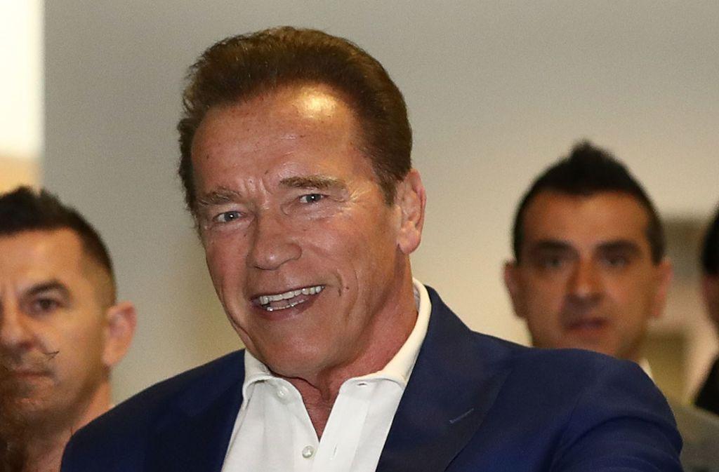 Gibt Arnold  Schwarzenegger den Bayern Fitness-Tipps?Foto:Getty/Robert Cianflone Foto: