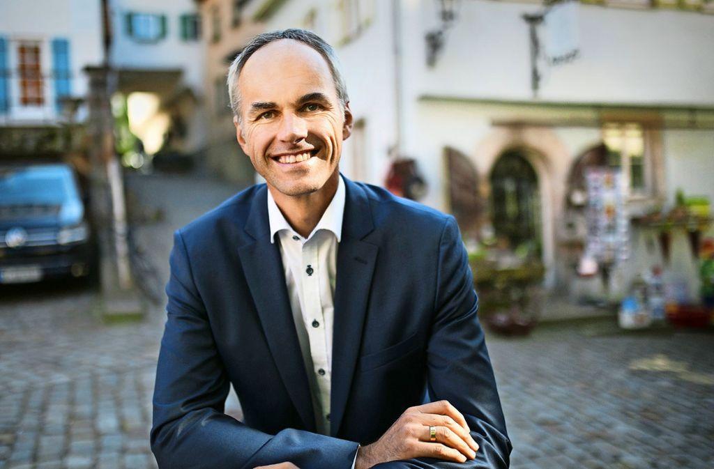 """Matthias Ruckh bezeichnet Nürtingen als seine """"Heimat- und Lieblingsstadt"""". Foto: Ines Rudel"""