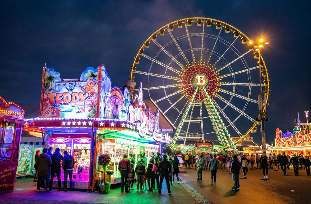 Das Stuttgarter Frühlingsfest bietet wieder einiges. Auch die Gruselfreunde kommen nicht zu kurz. Foto: 7aktuell.de/Andreas Friedrichs