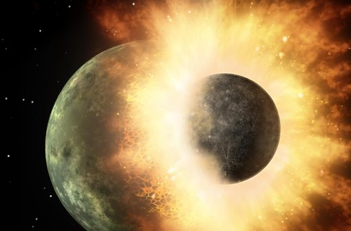 Wie viel Erde steckt im Mond?