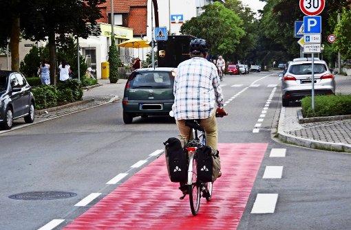 Bald gibt's  Schutzstreifen für Radfahrer