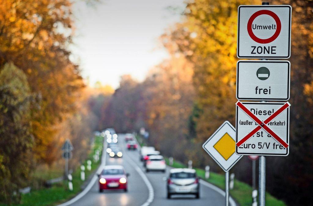 Wenige Wochen vor dem Fahrverbot für ältere Diesel Foto: dpa