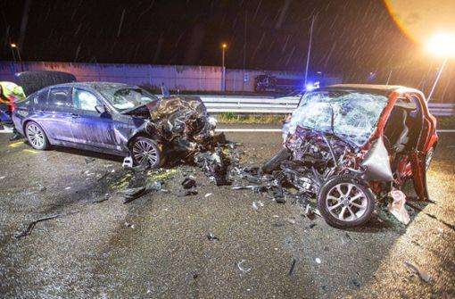 Geisterfahrer nach Unfall  in Lebensgefahr