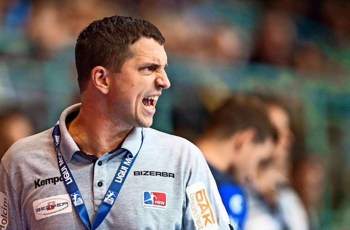 Jens Bürkle, schon ein erfolgreicher Bundesliga-Spieler, spornt seit Oktober 2017 die Handballer der Spielgemeinschaft HBW Balingen-Weilstetten an. Foto: dpa/David Inderlied