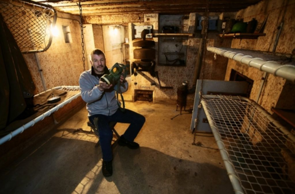 Bunker 302 war ein Teil der Neckar-Enz-Stellung, erklärt Roland Essig Foto: factum/Weise