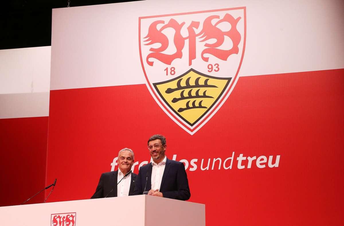 Der Vorsitzende des Vereinsbeirats, Wolf-Dietrich Erhard, und Präsident Claus Vogt. (v.li.) Foto: Baumann
