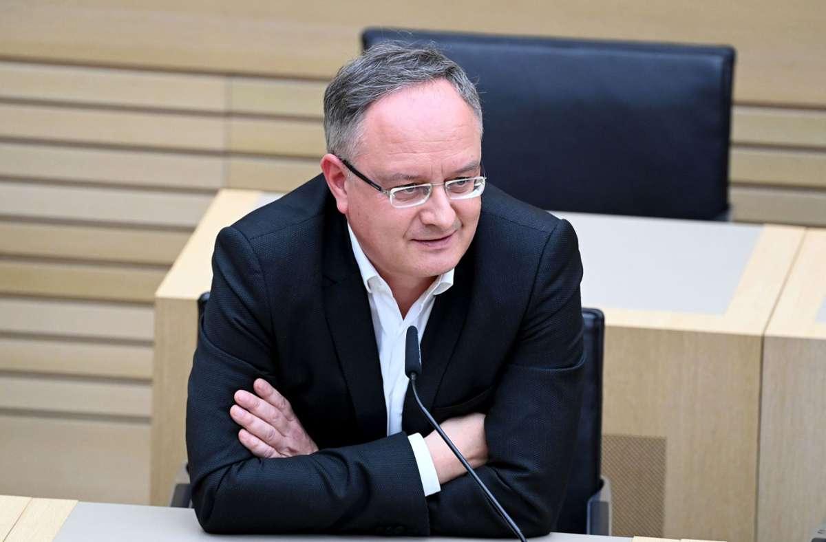 Andreas Stoch (SPD) hofft auf eine Regierungsbeteiligung der Sozialdemokraten in einer Ampelkoalition. (Archivbild) Foto: dpa/Uli Deck