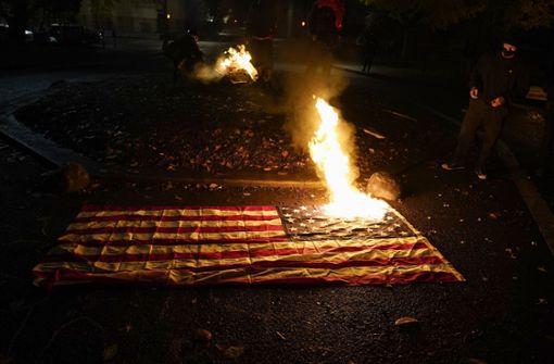 Brennende US-Flaggen und Furcht vor Unruhen