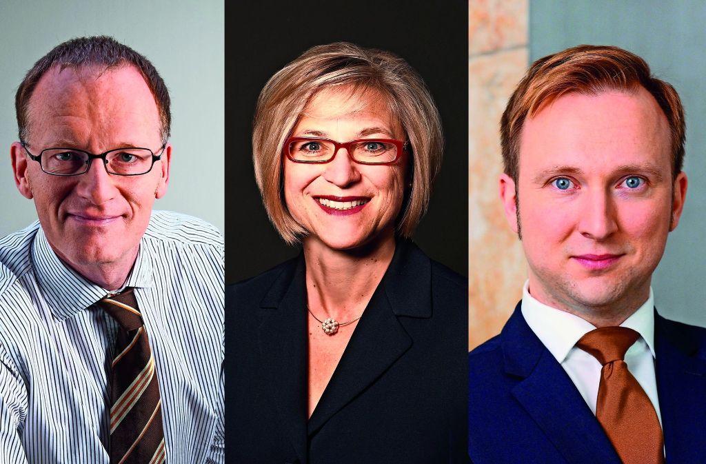 Ein Amt, drei Kandidaten: Joachim Kölz, Inge Horn und Sebastian Reutter (von links) Foto: privat