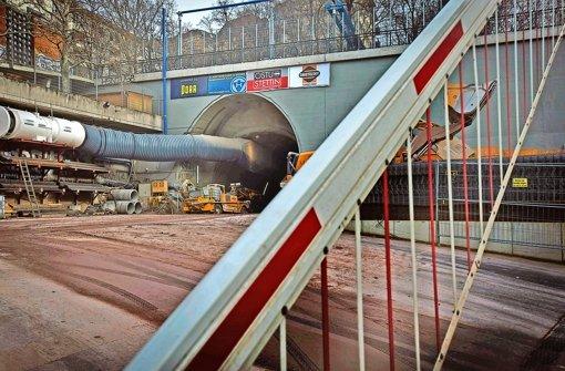Anrainer der Baustellen – hier am Wagenburgtunnel  – fordern mehr Unterstützung aus der Politik. Foto: Achim Zweygarth