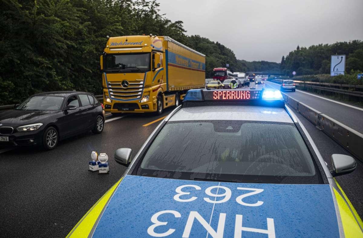 Die A81 war vom Unwetter auch betroffen. Foto: 7aktuell.de/Simon Adomat