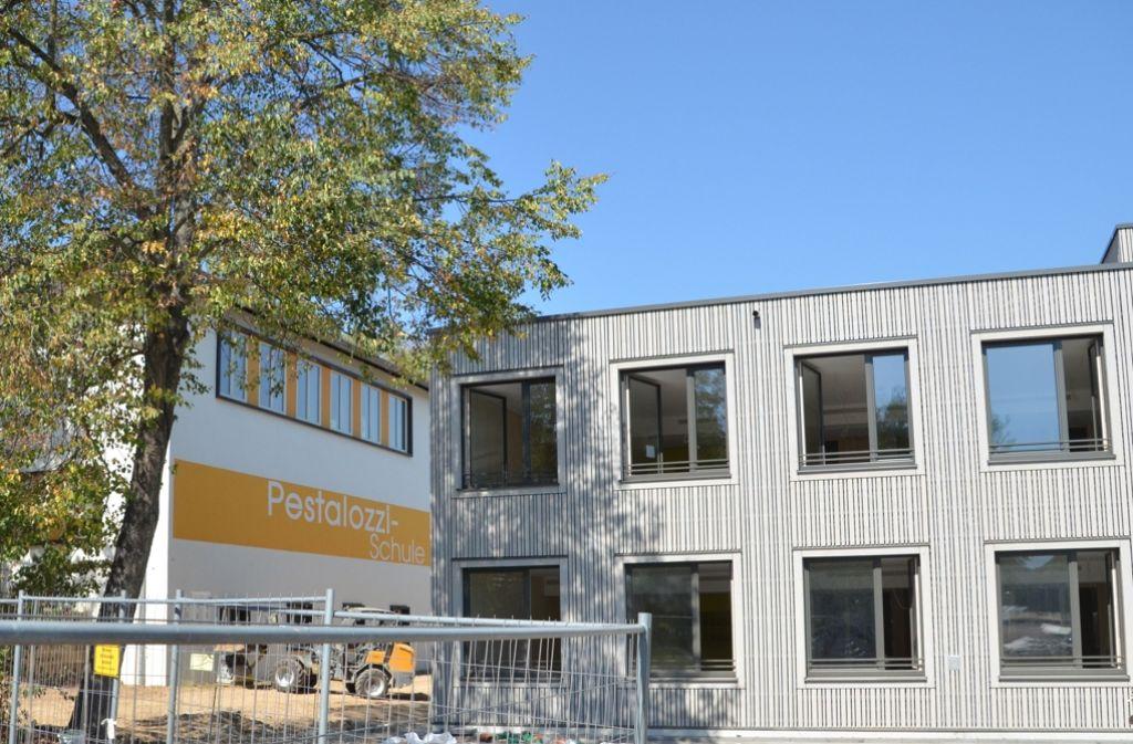 Der Interimsbau an der Pestalozzischule ist nicht wie geplant bezugsfähig. Foto: Sandra Hintermayr