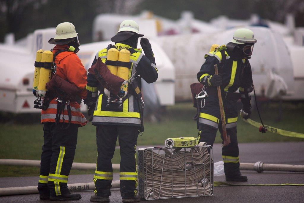 Feuerwehr, Polizei, Bergwacht und verschiedene Sondereinsatzgruppen simulierten in Kirchheim den Absturz eines Flugzeuges im Wald - wir haben die Bilder.  Foto: www.7aktuell.de | Florian Gerlach