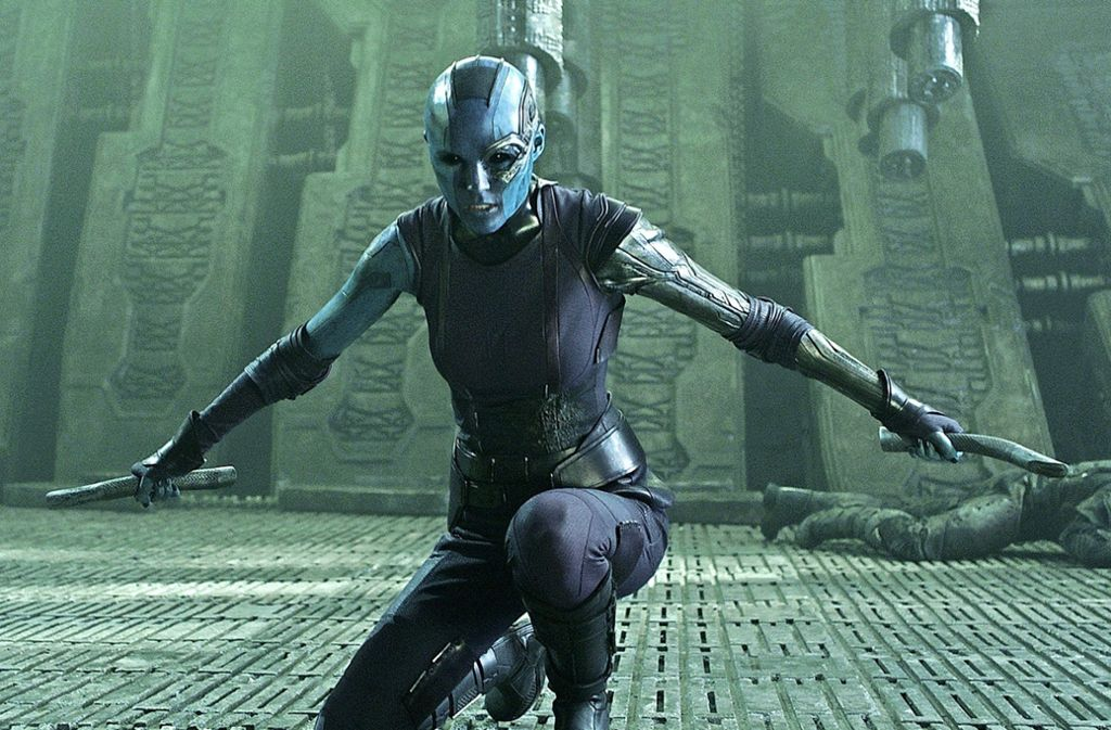 """Keine Angst, die will nur spielen: Karen Gillan aus """"Guardians of the Galaxy"""" ist einer der Stargäste der Comic Con in Stuttgart. Foto: Marvel"""