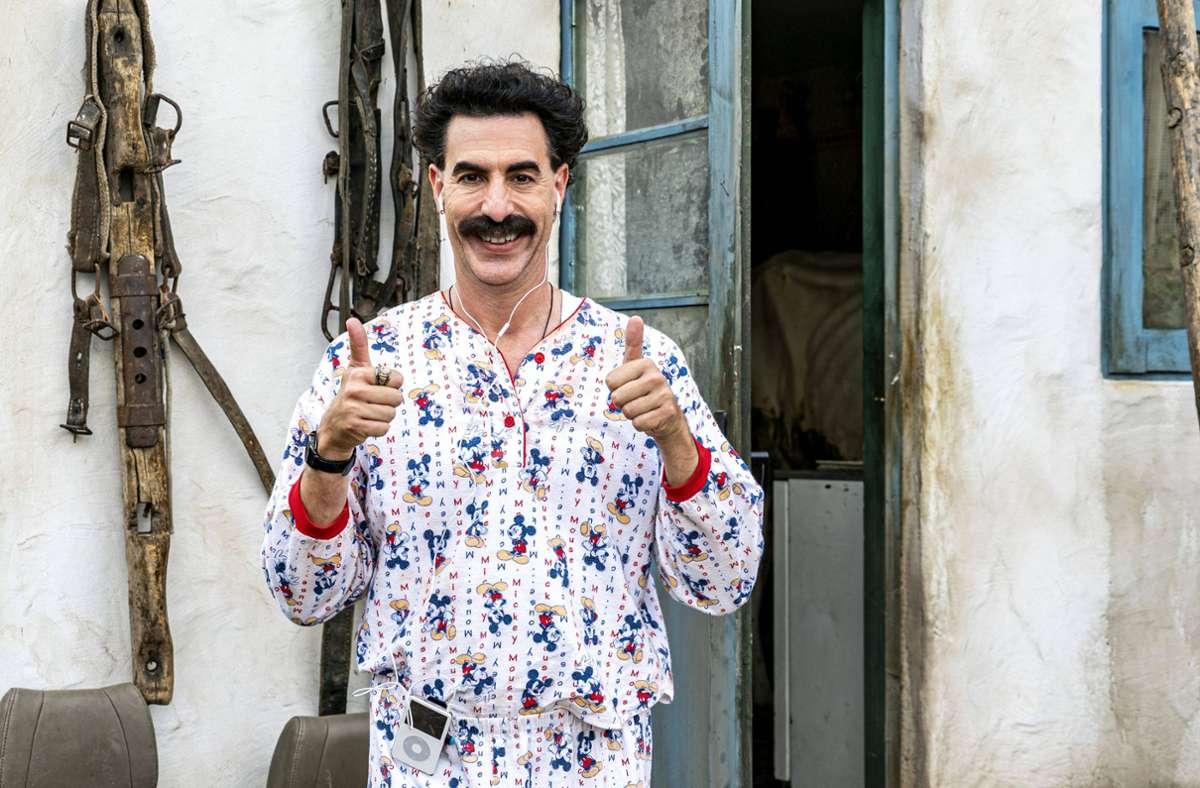 "Sacha Baron Cohen in ""Borat Subsequent Moviefilm"": wider mal ein Erfolg. Foto: imago images/ZUMA Press/Amazon Studios"