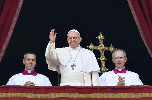 Papst ruft zu Frieden auf