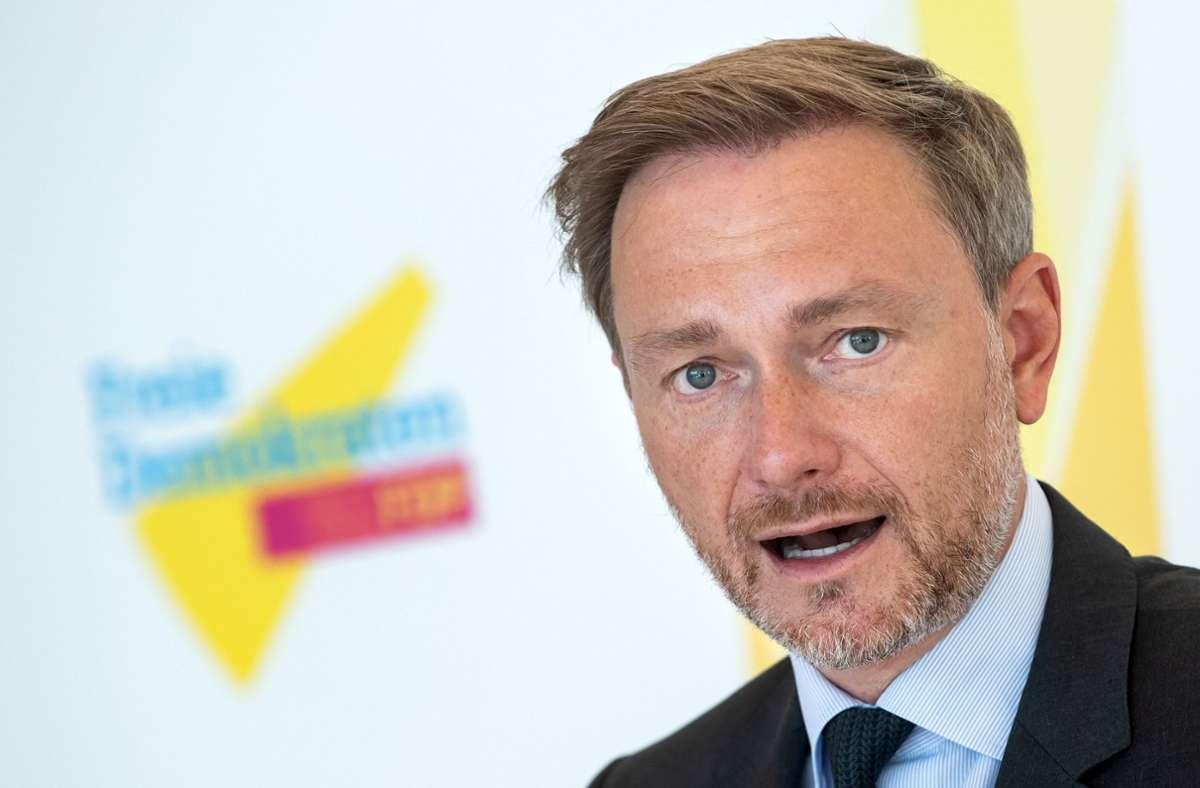 Christian Lindner hofft auf ein gutes Wahlergebnis der FDP. Foto: dpa/Bernd von Jutrczenka