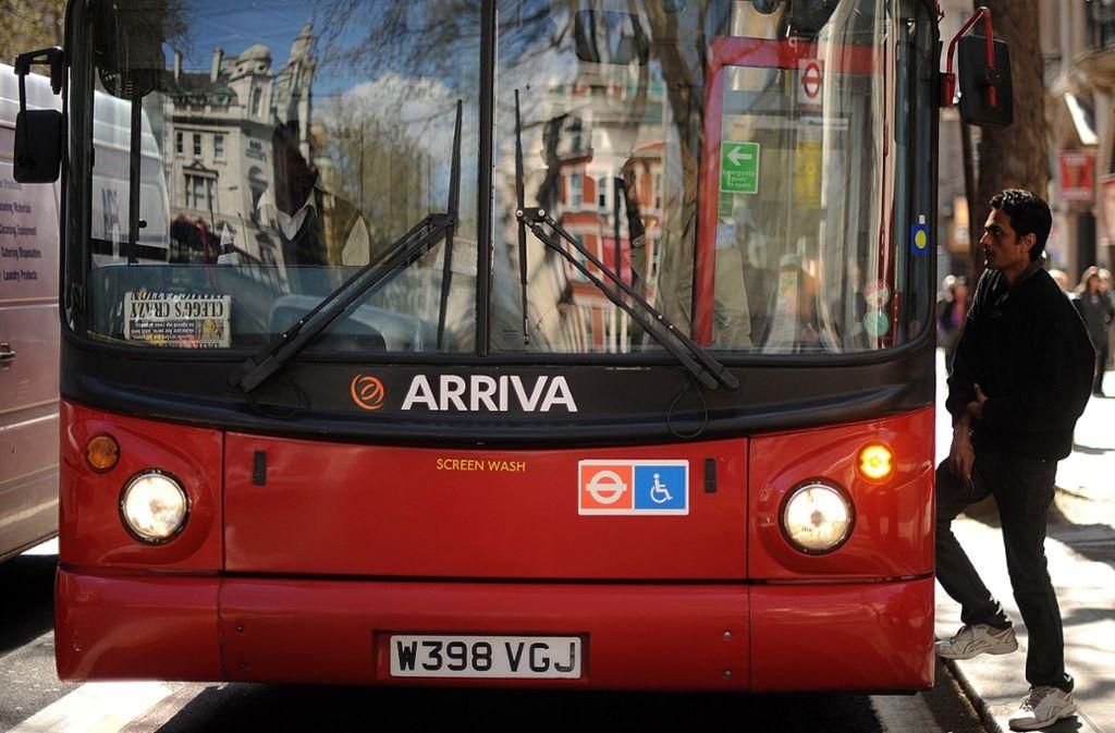 Arrivas Busse fahren auch in London. Foto: AFP