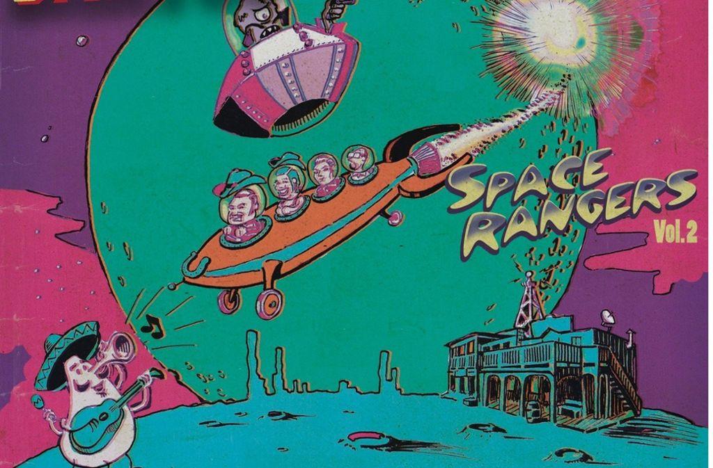 Los Santos erkunden auch auf ihrem neuen Album die Gemeinsamkeiten von Tex-Mex und Weltallträumen. Foto: Part Records