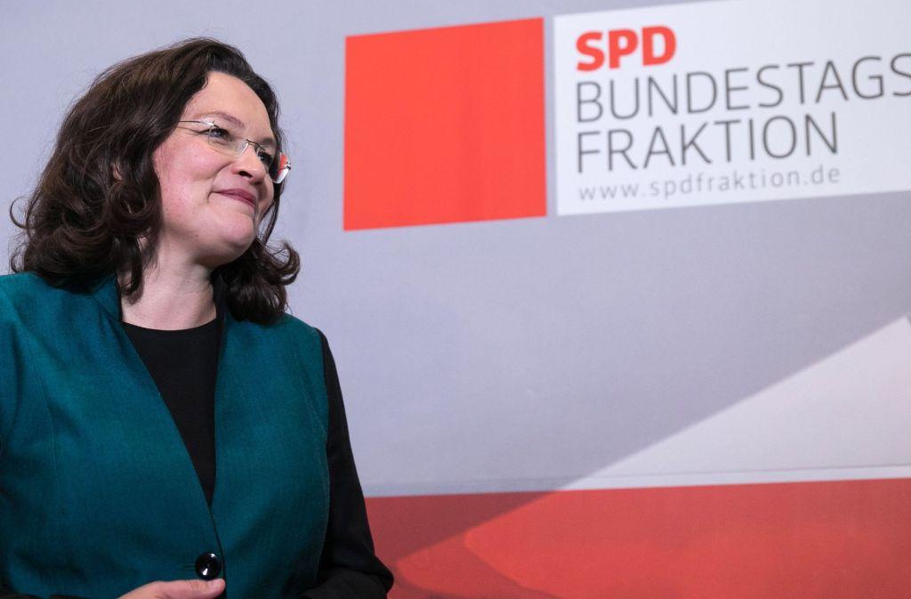 Andrea Nahles will das Profil der SPD schärfen und sie wieder konkurrenzfähig machen. Foto: Getty Images Europe