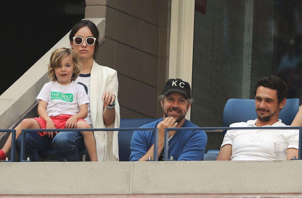 Die Schauspielerin Olivia Wilde wurde zusammen mit Mann, Sohn und dem Kollegen James Franco bei den US Open gesichtet. Foto: Getty