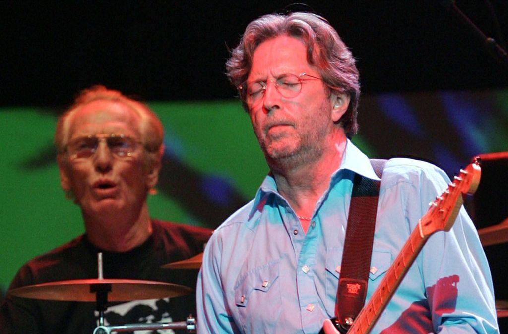 Ginger Baker (links) und Eric Clapton bei der Cream-Reunion 2005 in der Londoner Royal Albert Hall Foto: AP