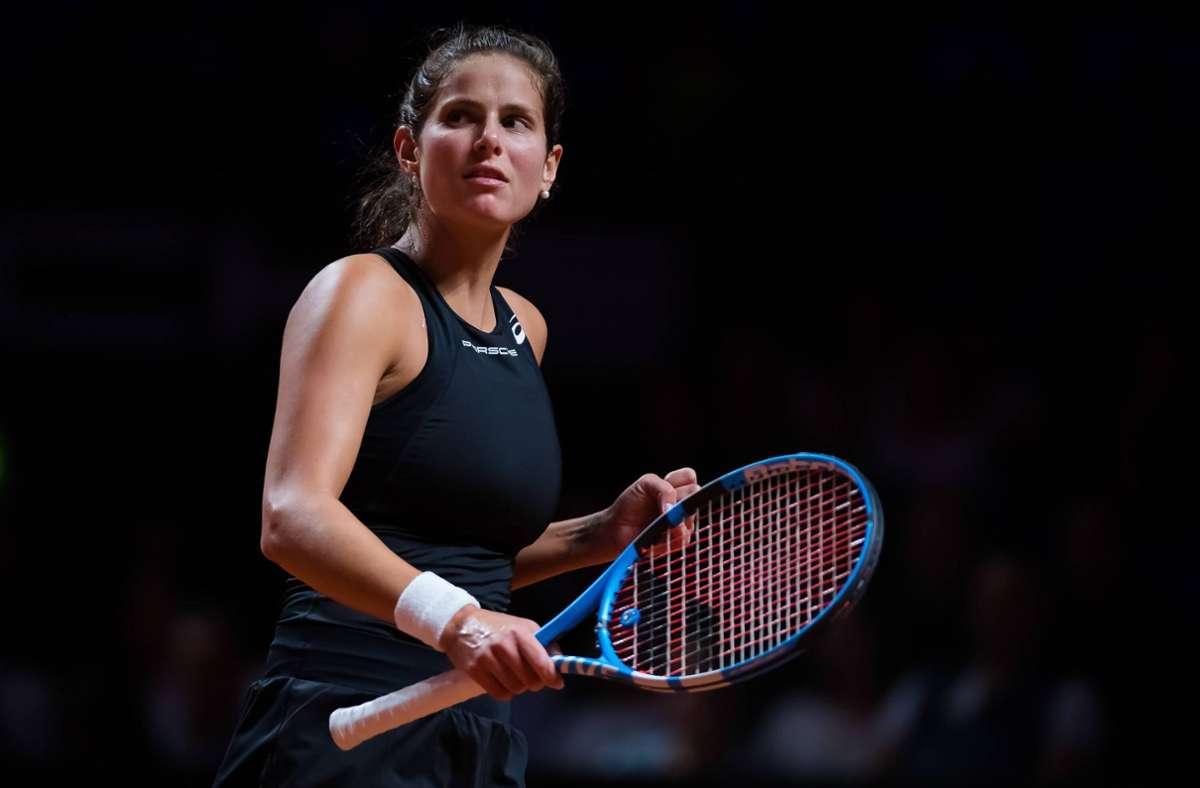 Spiel, Satz und Sieg: Julia Görges bei ihrem Auftritt 2019 in Stuttgart. Nun hat die Tennisspielerin ihre Karriere beendet. Foto: imago images / ZUMA Press/AFP7
