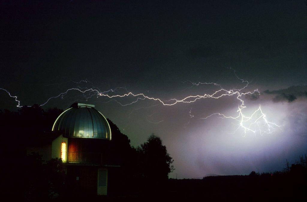 Die Sternwarte Welzheim fängt faszinierende Eindrücke ein – auch vom Wetter. Foto: Sternwarte