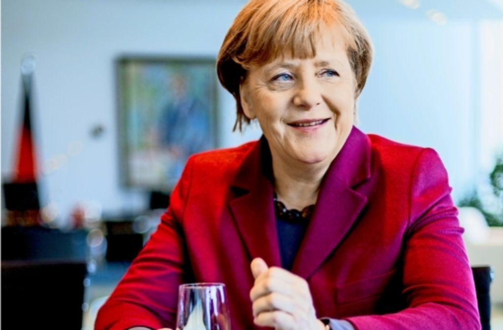 """Angela Merkel warnt im Gespräch mit der Stuttgarter Zeitung vor """"vermeintlich einfachen, verlockend schnellen Antworten"""" in der Flüchtlingskrise Foto: Christian Schroth"""