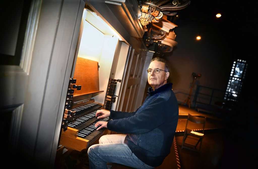 Ein Meister an der Orgel –  doch eigentlich sei er dem Klavier näher, sagt Klaus Rothaupt. Foto: /Horst Rudel