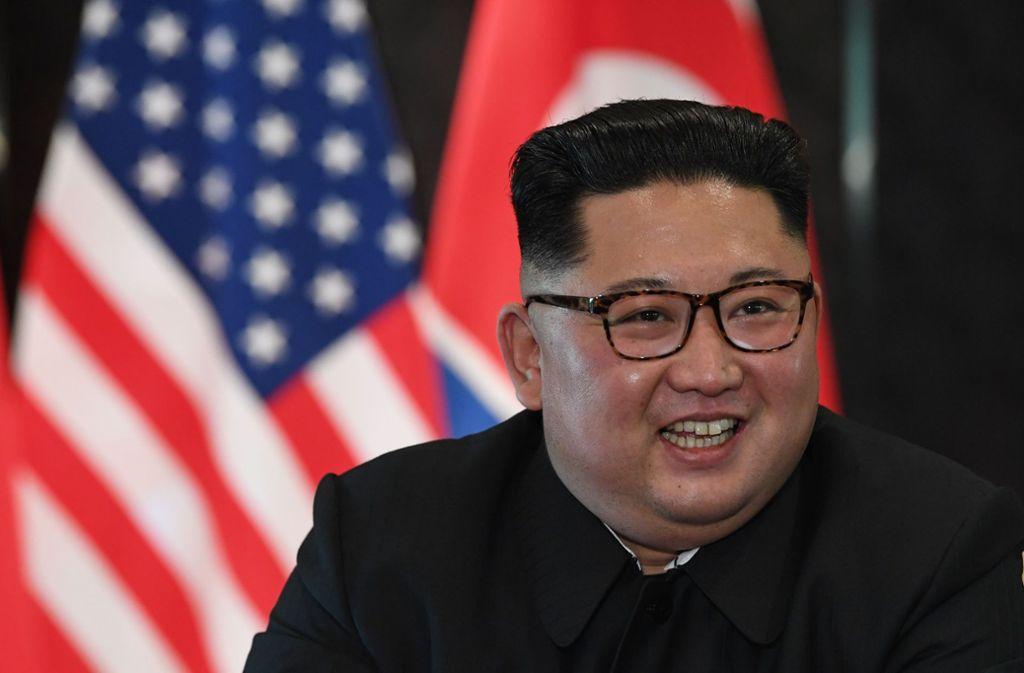 """Seit dem 29. Dezember 2011 im Amt: Nordkoreas """"Oberster Führer"""" Kim Jong Un. Foto: AFP"""
