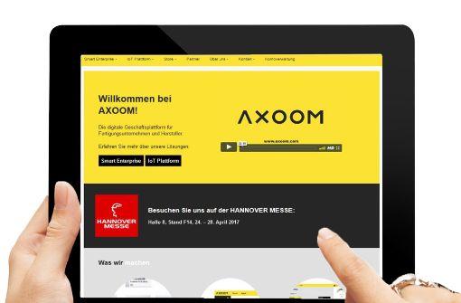 Axoom verspricht Kunden  Effizienzgewinne von  30 Prozent. Screenshot: StN, Montage: Ruckaberle