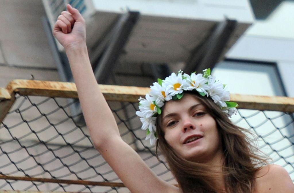 Die Ukrainerin Oksana Schatschko war Mitgründerin der Frauenrechtsgruppe Femen. Foto: AFP