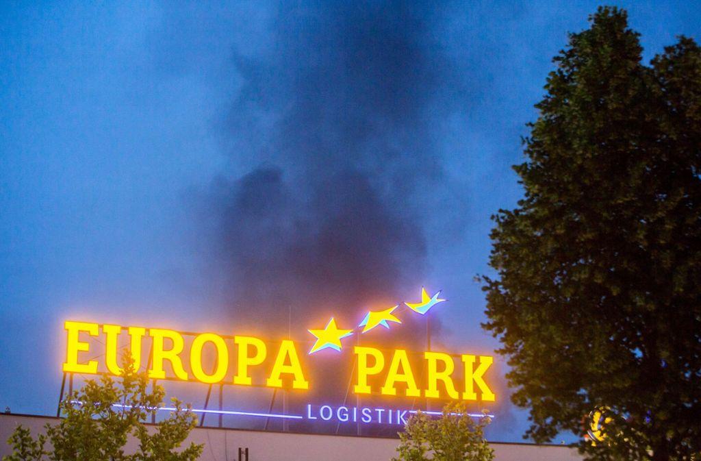 Das Feuer im Europa-Park Rust ist gelöscht. Foto: 7aktuell.de/Simon Adomat