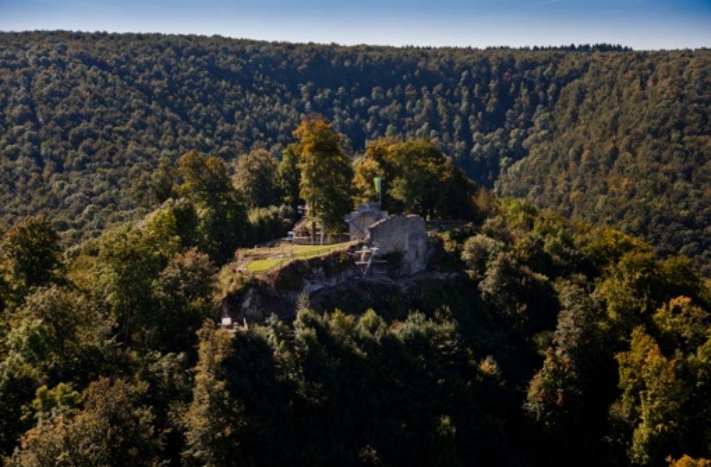 Die Hiltenburg bei Bad Ditzenbach ist ein beliebtes Ausflugsziel. Foto: Rudel/Regenscheit