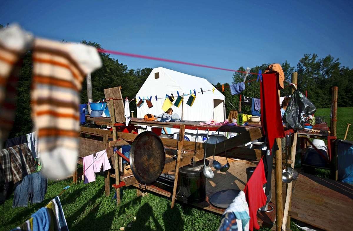 Das Zeltlager am Edelmannshof hätte dieses Jahr seinen 55. Geburtstag gefeiert. Foto:
