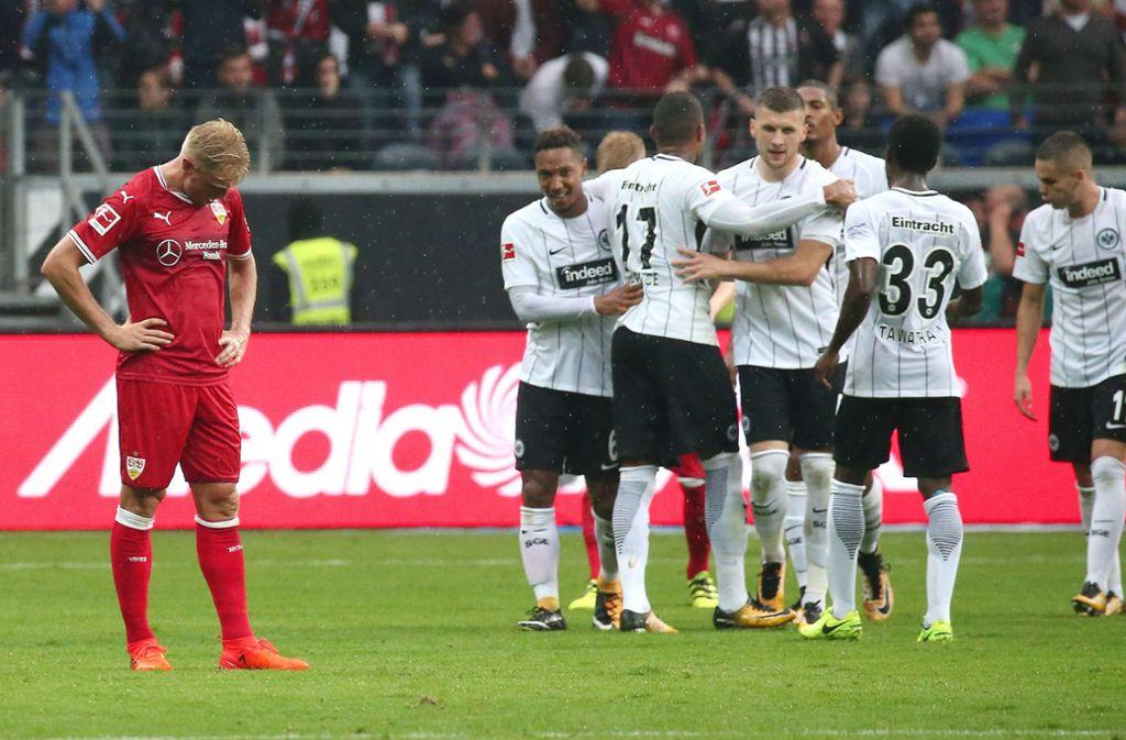 Die Hinrunden-Begegnung konnte Eintracht Frankfurt mit 2:1 gegen den VfB Stuttgart für sich entscheiden. Foto: Pressefoto Baumann