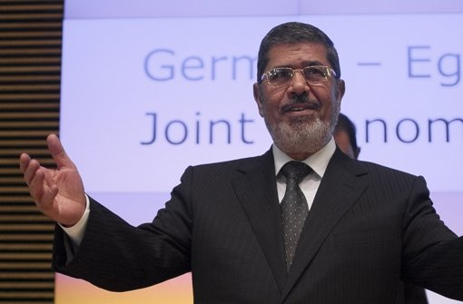 Ägyptens Präsident Mursi wirbt auf seiner Berlin-Reise  für Investoren. Foto: dapd