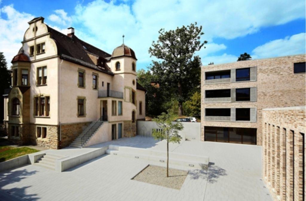 Die Neubauten des Konvikts  und die  Villa Bruns Foto: Stefan Hohloch