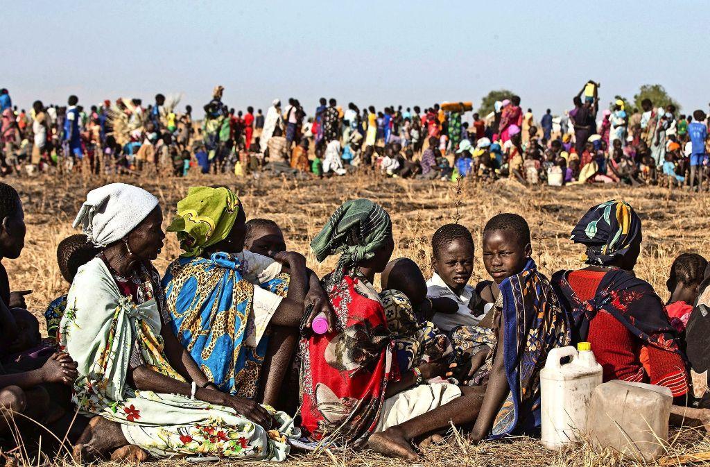 Hunderttausende leiden im Südsudan wegen der großen Dürre an Hunger. Foto: UNICEF