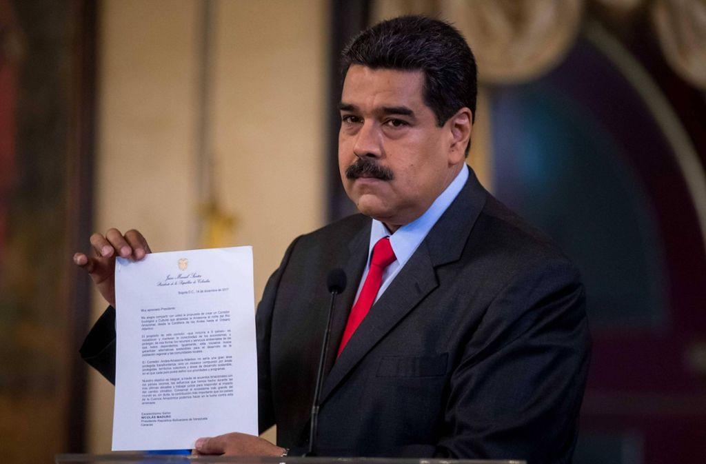 Der venezolanische Präsident Nicolás Maduro ist auch im eigenen Land umstritten. Foto: imago stock&people