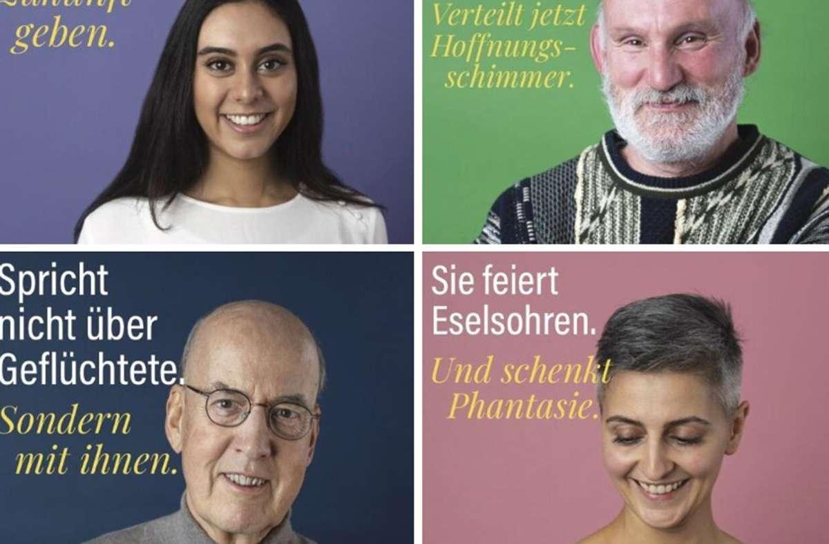 Empfinden ihr Ehrenamt als Bereicherung: Christina Kunz, Harry Pfau, Wolfram Freudenberg und Ebru Dogan (v. oben links im Uhrzeigersinn) Foto: red/Oddity