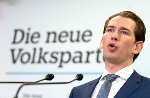 Kanzler Kurz empfiehlt seine Koalition als Vorbild für Deutschland