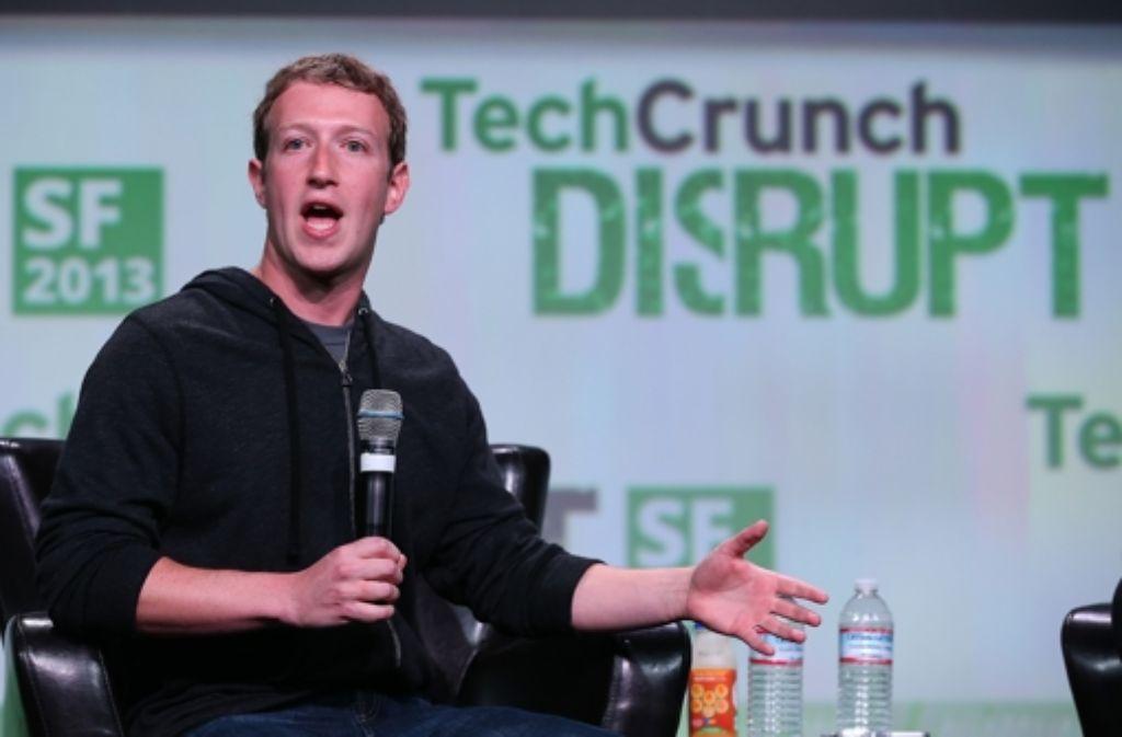Facebook-Chef Mark Zuckerberg kritisiert den US-Geheimdienst NSA auf einer Konferenz in San Francisco ungewöhnlich  scharf. Foto: AFP