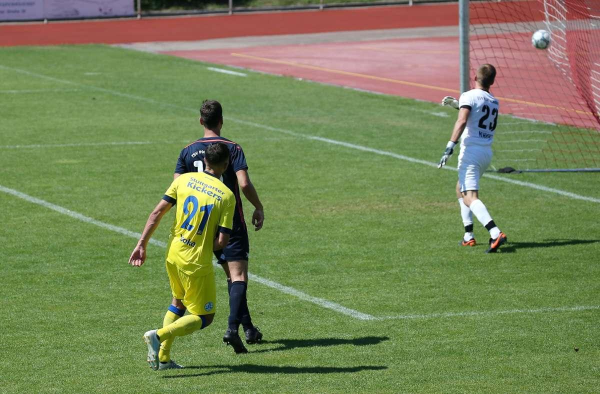 Auch Bleron Visoka war in Torlaune. Drei Mal traf der Stürmer für den SVK. Foto: Pressefoto Baumann