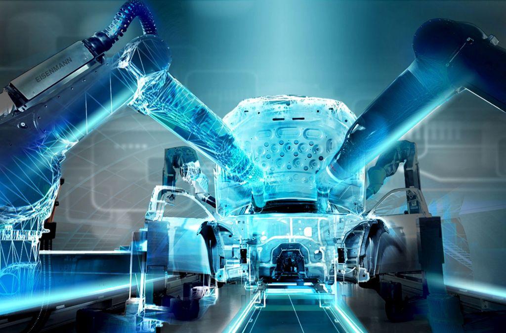 Lackieranlagen von Eisenmann sind weltweit gefragt. Zu den Kunden zählt  Tesla genauso wie Lamborghini. Foto: Werksfoto
