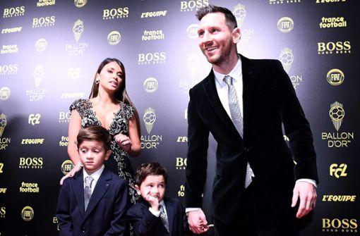 Messis Söhne zoffen  sich bei Weltfußballer-Gala
